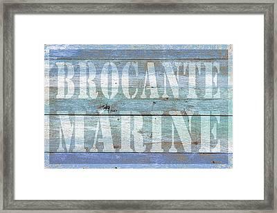 Brocante Marine Framed Print