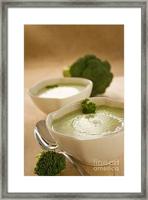 Broccoli Soup Framed Print by Mythja  Photography
