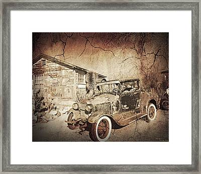 Broke Down Framed Print