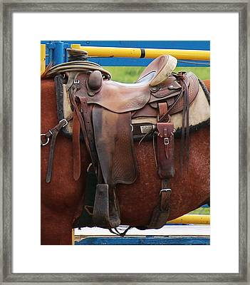 Framed Print featuring the photograph Broke In by Ann E Robson