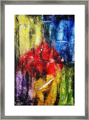 Framed Print featuring the painting Broken 4 by Michael Cross