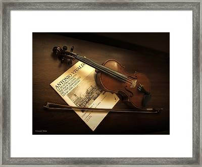 Framed Print featuring the photograph Broken A by Lucinda Walter