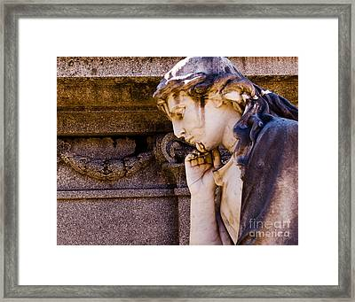 Broken Angel Framed Print by Sonja Quintero