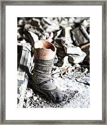 Broken Framed Print by Anne Raczkowski