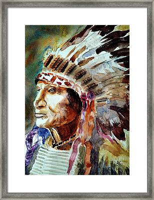 Framed Print featuring the painting Broken Arm by Steven Ponsford