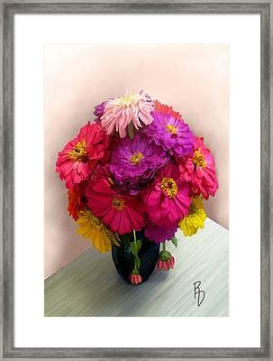 Broken Blooms Framed Print