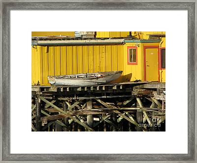 Broken Boat Fisherman's Wharf Framed Print