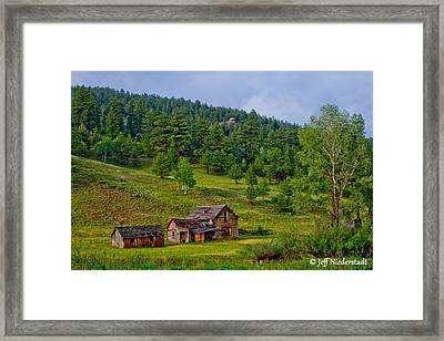 Broken Cabin Framed Print