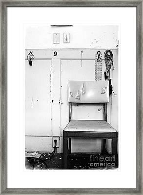 Framed Print featuring the photograph Broken Chair by Carsten Reisinger