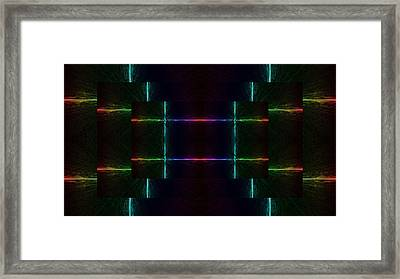 Broken Circuit Framed Print