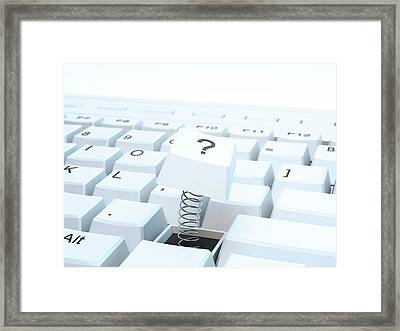 Broken Computer Keyboard Framed Print by Andrzej Wojcicki