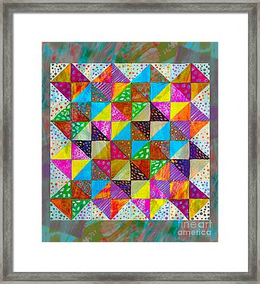 Broken Dishes - Quilt Pattern - Painting 2 Framed Print by Barbara Griffin
