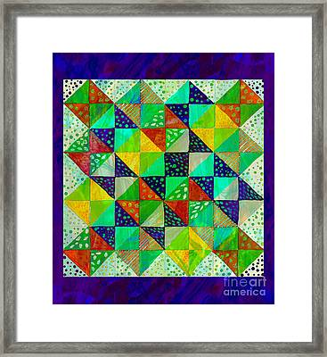 Broken Dishes - Quilt Pattern - Painting 3 Framed Print by Barbara Griffin