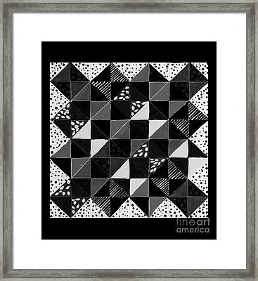 Broken Dishes - Quilt Pattern - Painting 4 Framed Print by Barbara Griffin
