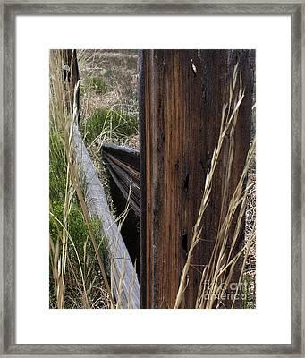 Broken Fence Line Framed Print