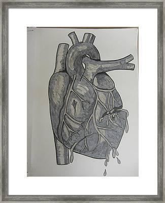 Broken Heart Framed Print by Rosanne Bartlett