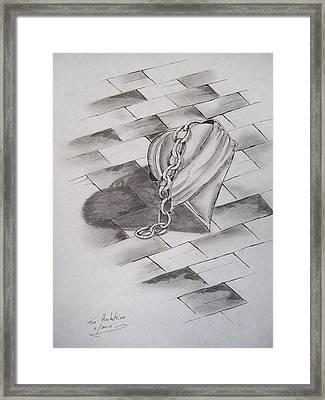 Broken Heart Framed Print by Tom Rechsteiner