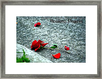 Broken Hearts Framed Print