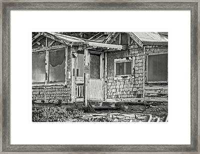 Broken Humility Bw By Denise Dube Framed Print by Denise Dube