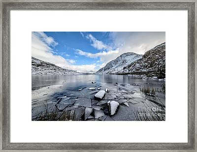 Broken Ice Framed Print by Adrian Evans
