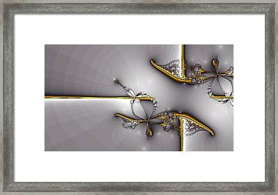 Broken Jewelry-fractal Art Framed Print