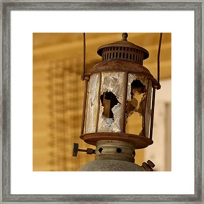 Broken Lantern Framed Print by Art Block Collections