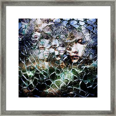 Broken Mind Framed Print by Azuto