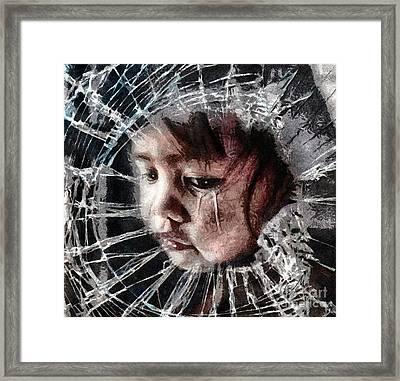 Broken Framed Print by Mo T