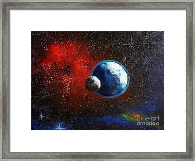 Broken Moon Framed Print by Murphy Elliott