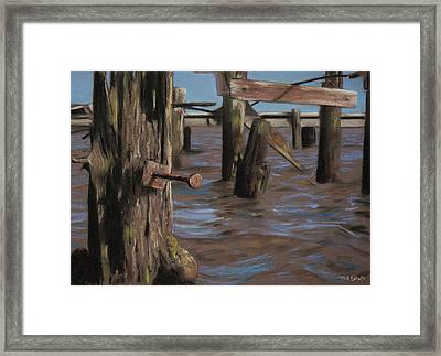 Abandoned Pier Framed Print by Christopher Reid