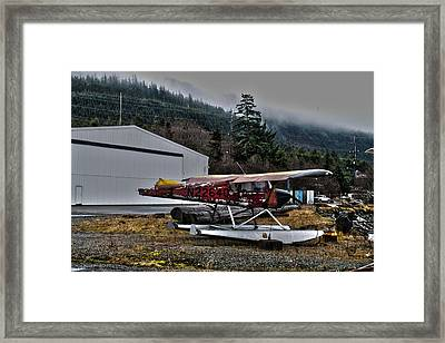 Framed Print featuring the pyrography Broken Plane by Timothy Latta