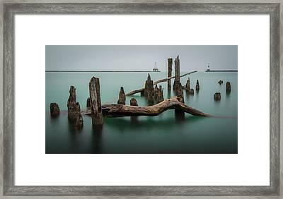 Broken Port Framed Print