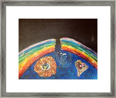 Broken Rainbow Framed Print by Dawn Richerson