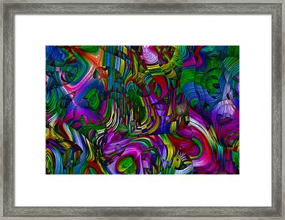 Broken Rainbow Framed Print
