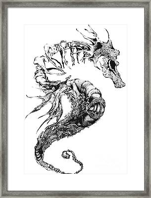 Broken Seahorse Framed Print by Penelope Fedor