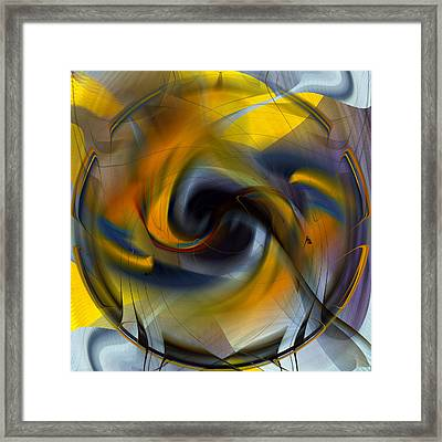 Broken Shield 2 - Abstract Framed Print