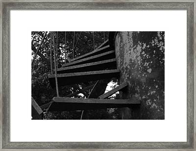 Broken Stairs Framed Print by Jennifer Ancker
