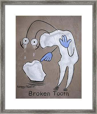 Broken Tooth Framed Print by Anthony Falbo