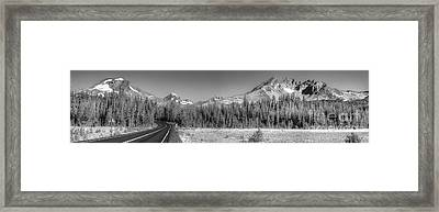 Broken Top And South Sister Framed Print by Twenty Two North Photography