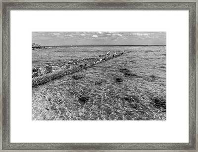 Broken Wall Framed Print