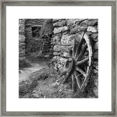 Broken Wheel - Ireland Framed Print