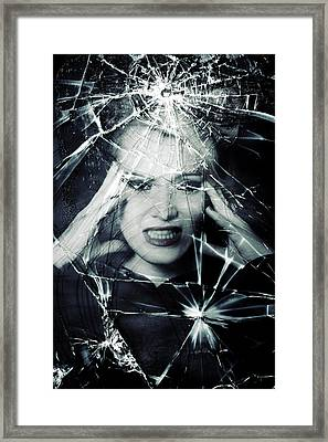 Broken Window Framed Print by Joana Kruse