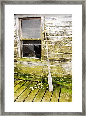 Framed Print featuring the photograph Broken Window by Mary Carol Story