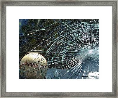 Framed Print featuring the photograph Broken Window by Robyn King