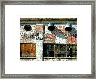 Broken Windows Framed Print by Brenda Leedy