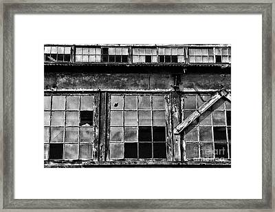 Broken Windows In Black And White Framed Print by Paul Ward