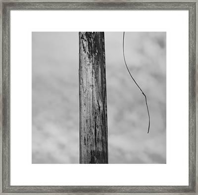 Broken Wire Framed Print by Dan Sproul
