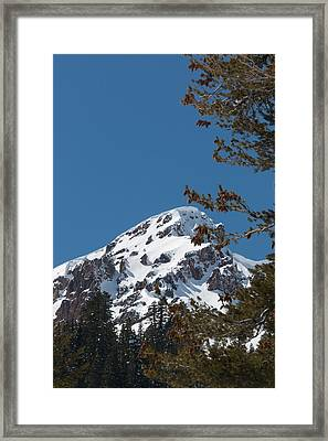 Brokeoff Mtn. In Spring Framed Print by Jan Davies