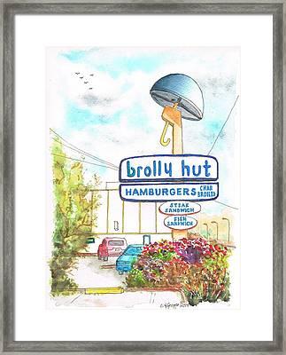 brolly Hut Hamburgers in Inglewood - California Framed Print by Carlos G Groppa