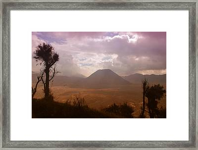 Bromo Framed Print by Miguel Winterpacht